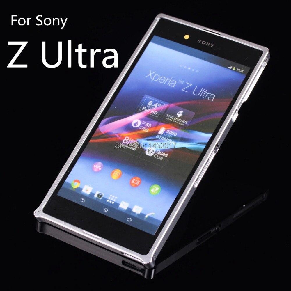 imágenes para Z Ultra caso de Parachoques Protector de Parachoques de aluminio de Lujo de lujo Ultra Delgada Del Caso Del Capítulo Para Sony Xperia Z Ultra XL39H ZU
