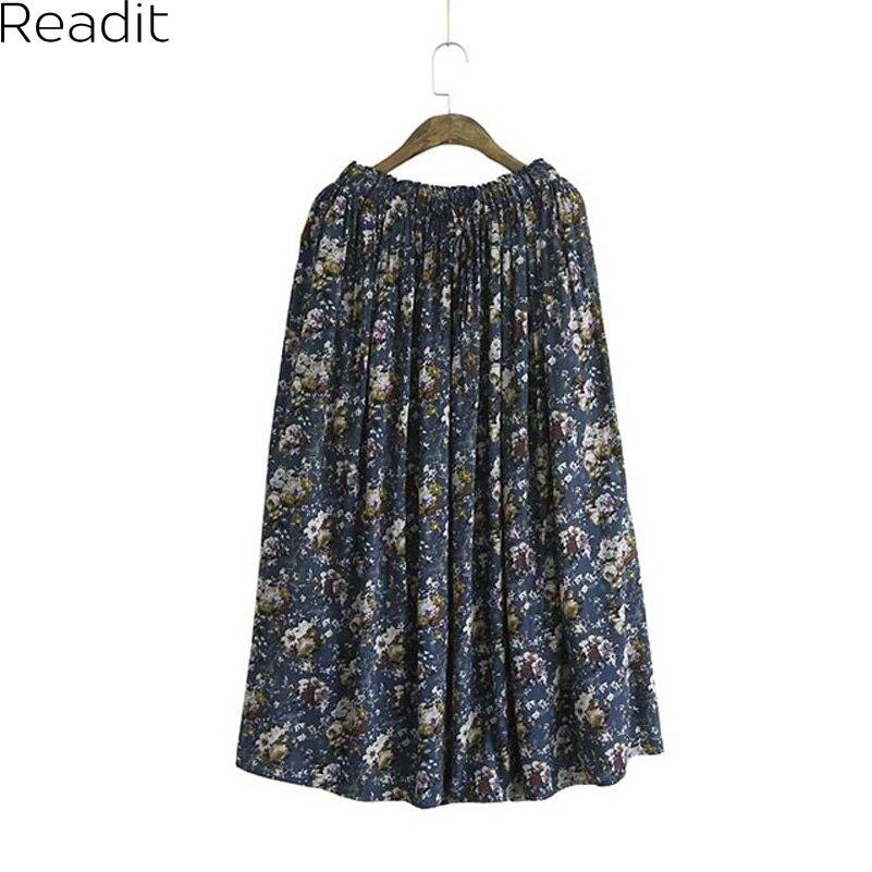ᑐviscose floral skirts womens φ φ faldas faldas