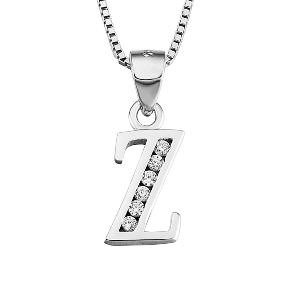 Letter Z Necklace ALP Initial Letter Z Necklace Men Women Silver 925 Jewelry AAA zircon Factory  Direct Drop Shipping Necklaces Pendants Gift SN032-in Pendant Necklaces  from ...