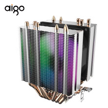 Aigo L6 Copper LED 6 Heatpipes Radiator Cooling RGB Two Tower Master Cooling Heatsink Ram 9mm Fan Cpu Cooler(China)