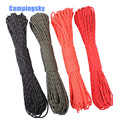 CAMPINGSKY 550 Reflective Paracord Parachute Cord Lanyard Tent Rope Mil Spec Type III 7 Strand Paracord For Hiking Camping