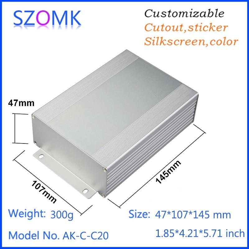 10 pcs 47 107 145mm szomk wall mounting instrument control box aluminum junction box aluminum enclosure