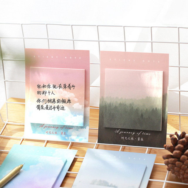 Colored clouds student memo pad planner sticky note paper sticker kawaii stationery pepalaria office school supplies 30 pages 4