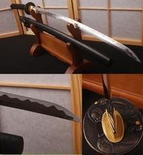 Distinct Hamon Manganese Unokubitsukuri Blade Handmade Samurai Sword Japanese Full Tang Katana with Double Bo-hi