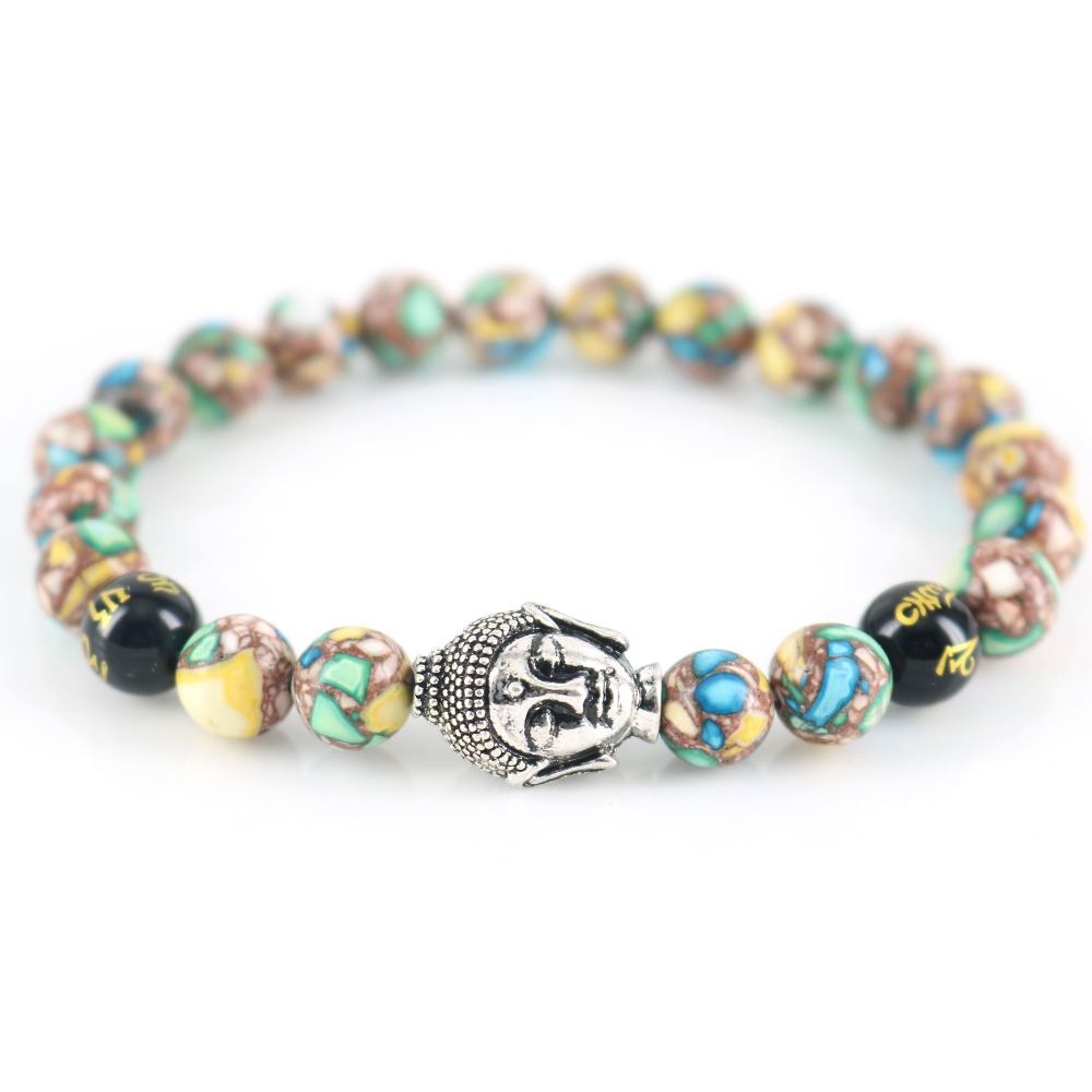 Buddha Chakra Bracelets Buddhist Spiritual Prayer Mala Beads Spiritual Yogi Gift Unisex Zen Bracelet
