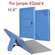 Чехол для планшета EZpad6, чехол-книжка 11,6 дюйма с подставкой и цветочным принтом, чехол из искусственной кожи s для Jumper EZpad 6, тонкий защитный че...