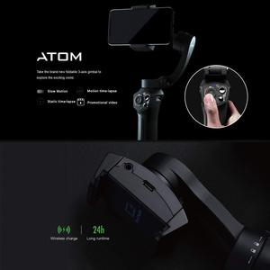 Image 2 - Snoppa Atom Foldable Pocket Sized 3 Axis Handheld Gimbal Stabilizer for iPhone Samsung XiaoMi Huawei for Gopro 6 7 PK Smooth 4