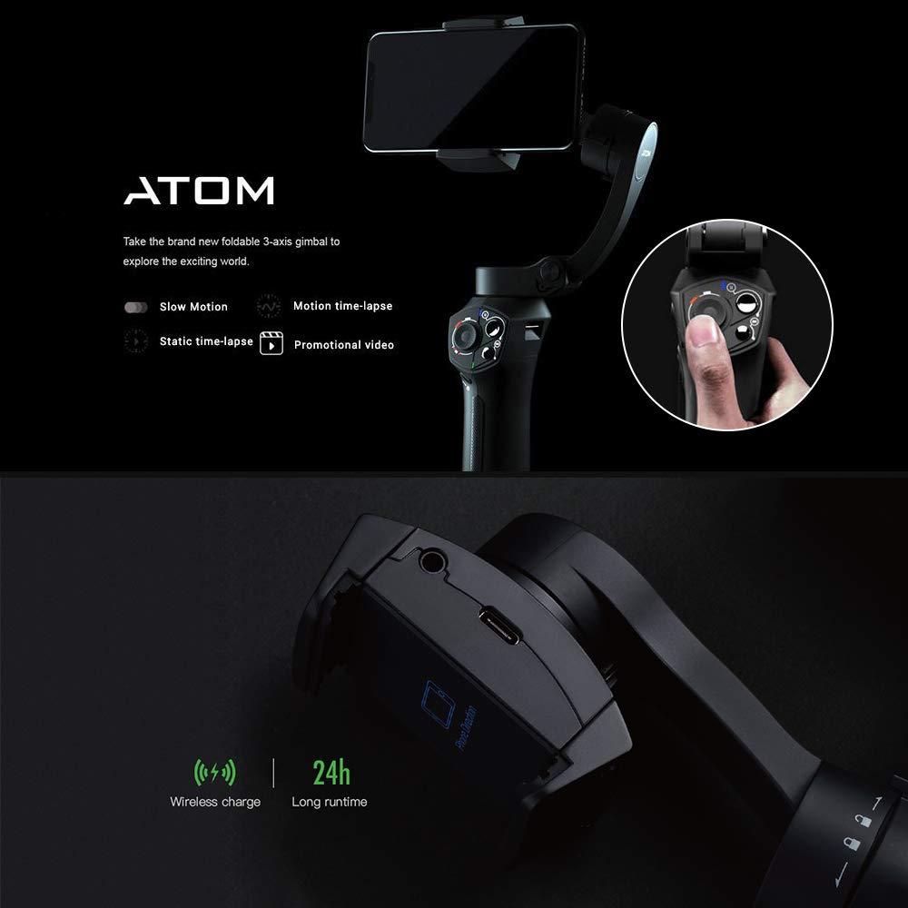 Snoppa Atom складной карманный Дрон Размер затрудняетесь в выборе правильного размера? 3 осевой ручной шарнирный стабилизатор для камеры для iPhone samsung XiaoMi huawei для Gopro 6 7 PK гладкой 4 - 2