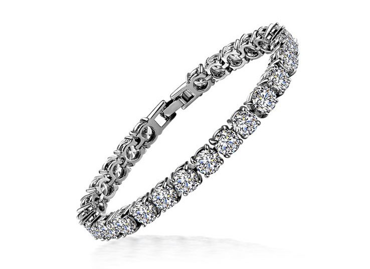 1ct SONA Diamond Bracelet Wedding Wholesale 18K White Gold Plated
