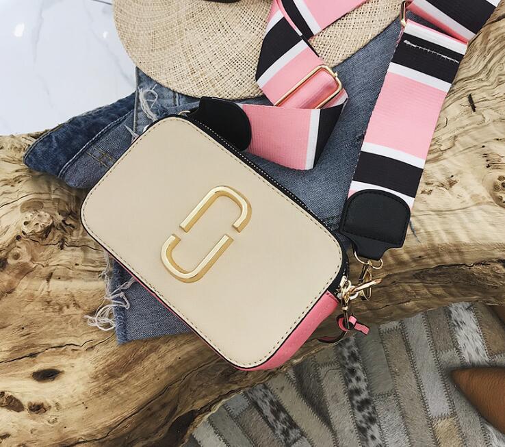 Panelled Wide Strap Lady Flap Bag Women Shoulder Bag #2412 Fashion Woman Crossbody Messenger Bag Female Gift