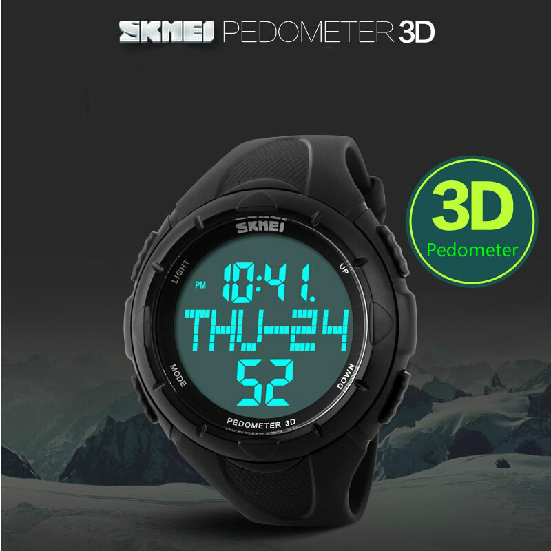 Sports Watches Pedometer Digital Skmei Luxury Relogio 1122 Masculino LED Brand Quartz