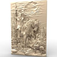 General 3d Model STL Relief For Cnc STL Format Warrior 3d Model For Cnc Stl Relief