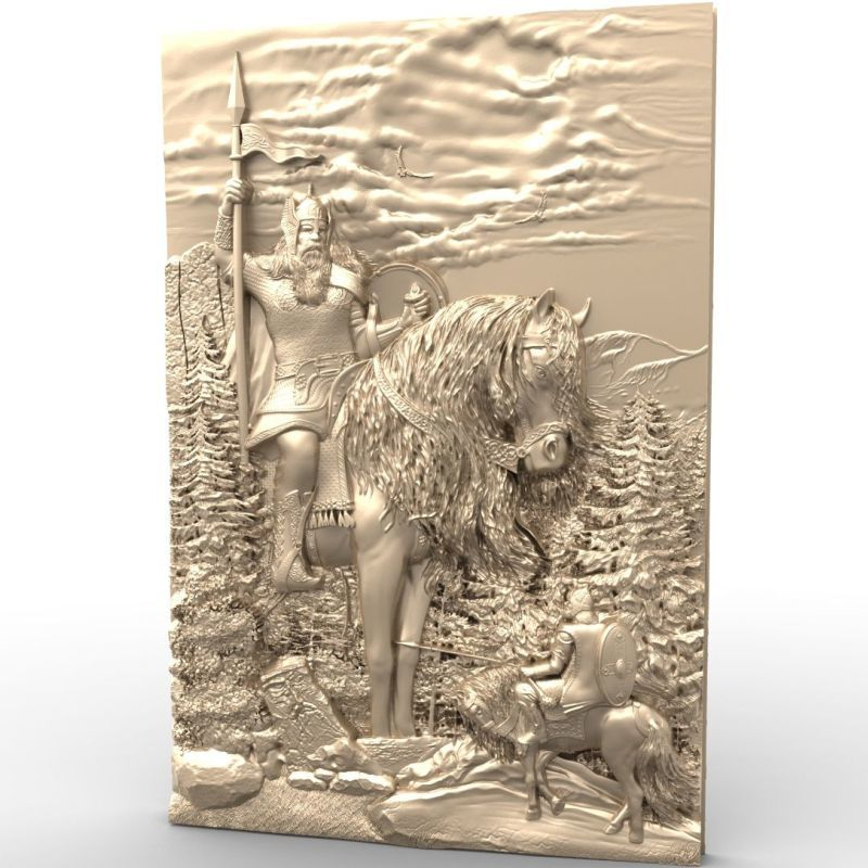 General 3d model STL relief for cnc STL format Warrior 3d model for cnc stl relief artcam vectric aspire cnc panno face 1 in stl file format 3d model relief for