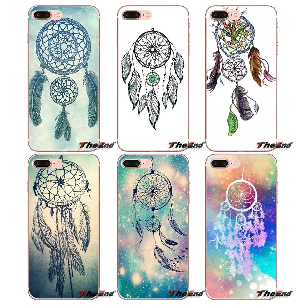 For Samsung Galaxy S2 S3 S4 S5 MINI S6 S7 edge S8 S9 Plus Note 2 3 4 5 8 Coque Fundas Dream Catcher Transparent Soft Case Covers