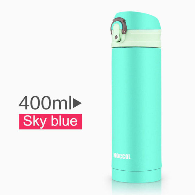 Noccol 400ml Stainless Steel Insulated Thermos Vacuum Flasks Water Bottle Thermo Mugs Tea Coffee Cups Tumbler