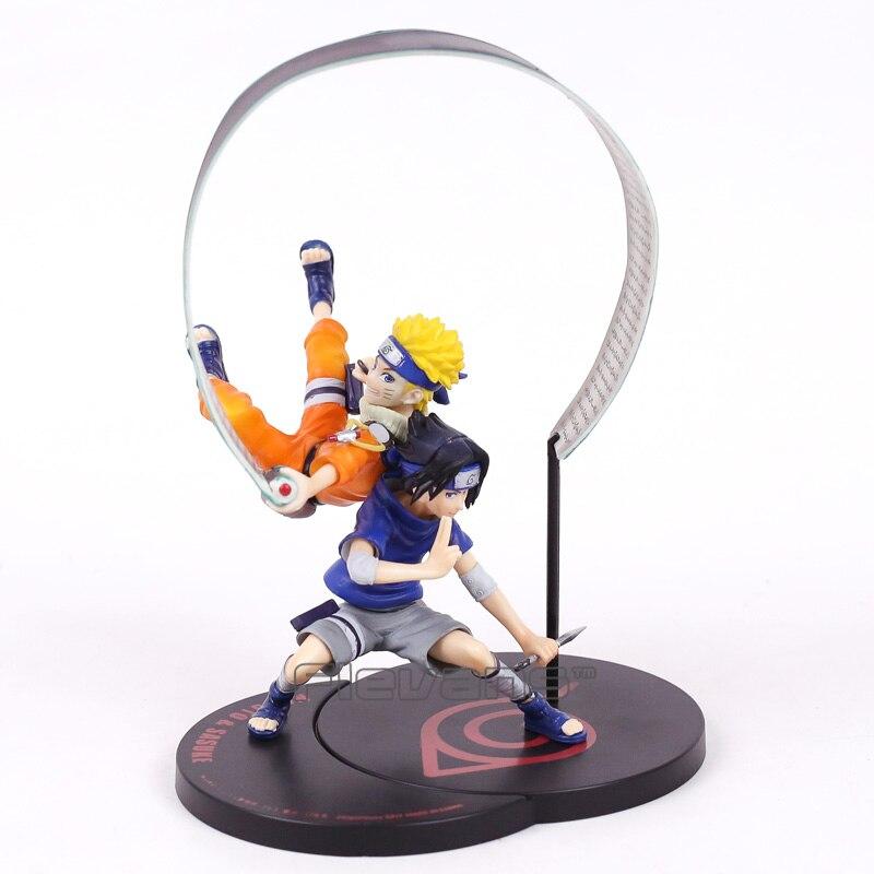 G. e. серии m Remix Наруто uzumaki Naruto и Саске не Весы Окрашенные рис Коллекционная модель игрушки 18 см