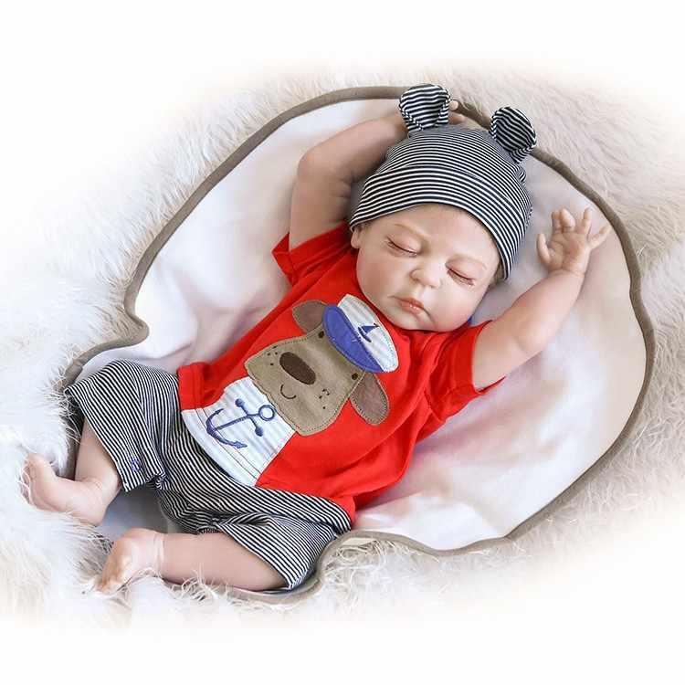 NPK 19 inç 46 CM Tam Vücut Silikon Yeniden Doğmuş Bebekler Bebek Banyo Oyuncak Gerçekçi Yenidoğan Prenses Bebek Bebek Bonecas Bebes reborn Menina