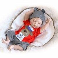 NPK 19inches 46CM Full Body SIlicone Reborn Babies Doll Bath Toy Lifelike Newborn Princess Baby Doll Bonecas Bebes Reborn Menina