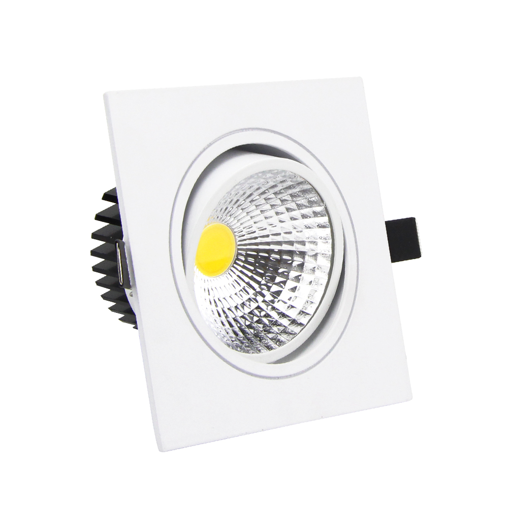 Lights & Lighting Silver Dimmable Led Downlight Lamp 7w 9w 12w 18w 24w Cob Led Spot Ac110v-220v Ceiling Recessed Downlights Square Led Panel Light Wide Selection; Ceiling Lights & Fans