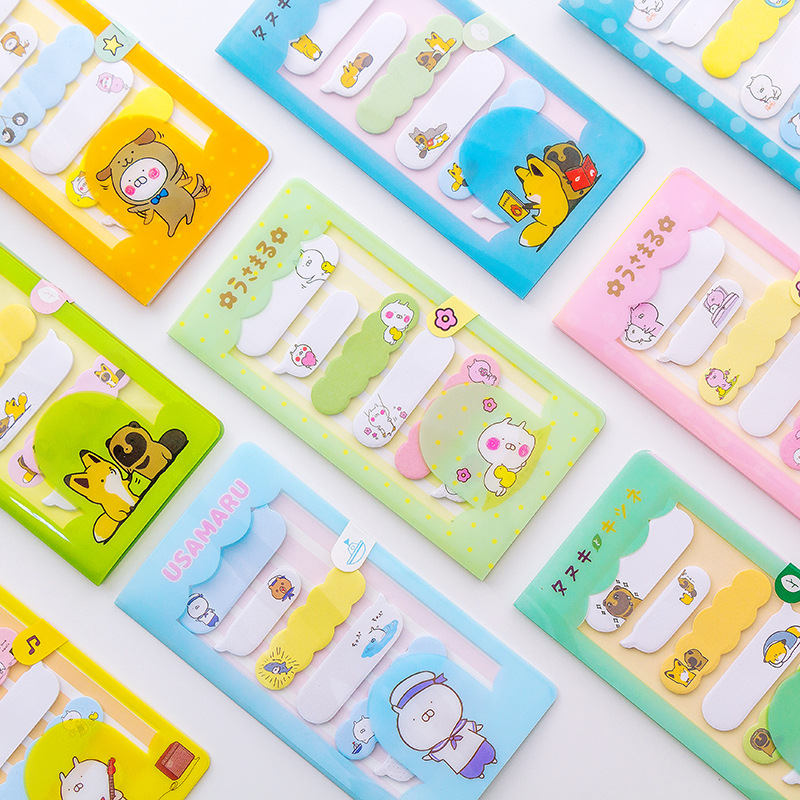 Memo Pads Lower Price with Cute Kawaii Cartoon Animal Finger Unicorn Memo Pad N Times Sticky Note Paper Korean Stationery Cat Planner Sticker School Office