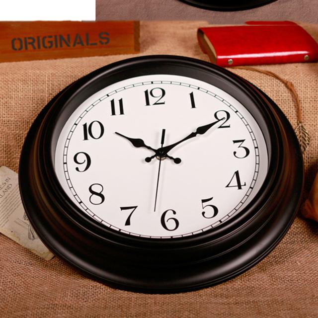 14 Inch Fashion Style Wall Clock Arabic Numerals Design Silent Quartz wall clock Decor Crafts