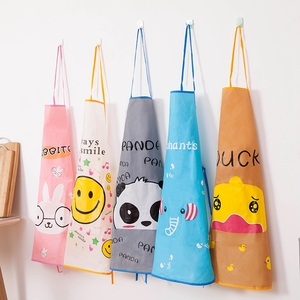 Kitchen Apron Rabbit Printing Kids Aprons BBQ Bib Apron For Women Cooking Baking Restaurant Apron Home Cleaning Tools 50*70cm(China)