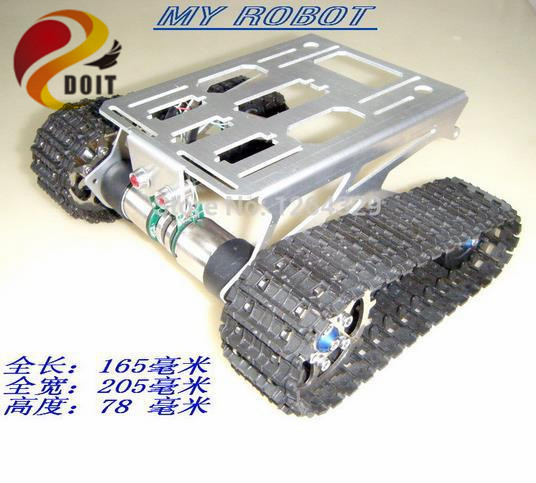 Official DOIT Tank Chassis /Crawler/ Tracked Car/Robot Electronic Toy for DIY /Smart Car Development Platform official doit speed sensors tank chassis creeper truck tracked smart car high torque motors and hall sensor robot part for diy