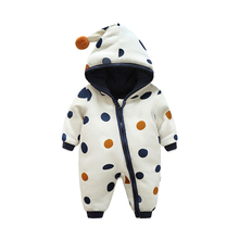 New Style Warm Baby Boy Outerwear Infant Romper Kid Jumpsuit Hooded Infant Girl Clothes Outfit Winter Baby Clothing