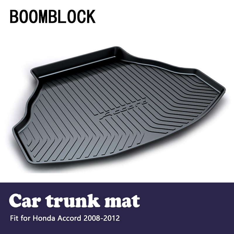 BOOMBLOCK For Honda Accord 8 2008-2012 Waterproof Anti-slip Car Trunk Mat Tray Floor Carpet Pad Protector Auto Accessories ашер браун дюран isbn 9785779347693