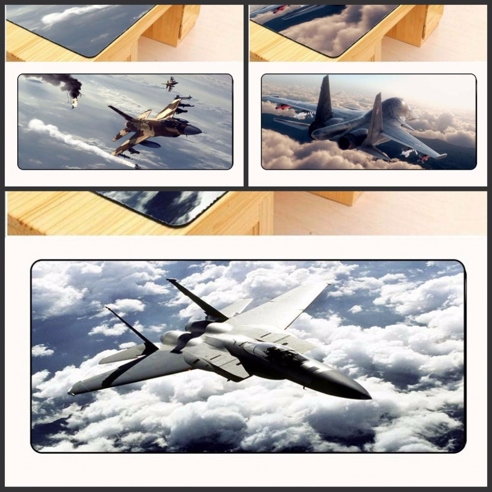 Yuzuoan Free Shipping Large Edge Lock My Favorite Airplane Airbus Cockpit Gamer Speed Mice Retail Small Rubber Desk Mouse pad