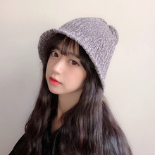 ROSASSY Knitted Fishman Caps for Women Solid Color Winter Bucket Hats Sun  Hats 842fe2566756
