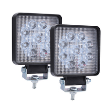 1 Or 2PCS  4 Inch 9LED 6000K Square Work Light Spot Beam Offroad Driving lamp Truck Tractor SUV