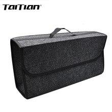 Taitian 1 шт. автомобиля Организатор авто аксессуары серый автомобиль мягкого фетра коробка для хранения багажник сумка органайзер для автомобиля складной багажник инструмент