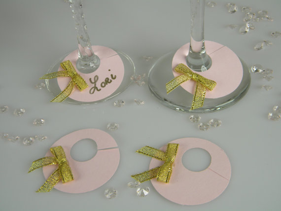 Bridal Party Wine Glass Charms
