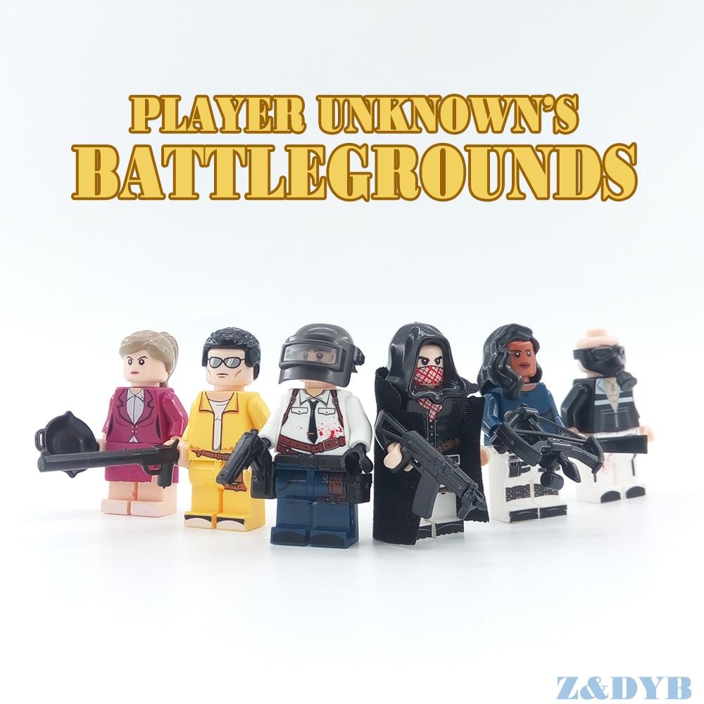 PUBG FPS Heroes /& Military Weapons Set Custom Minifigures Building Blocks Toys