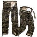 Novos Homens Moda Casual Militar Carga Camo Calças de Combate camuflagem Calças Retas Soltas Longo Baggy Plus Size