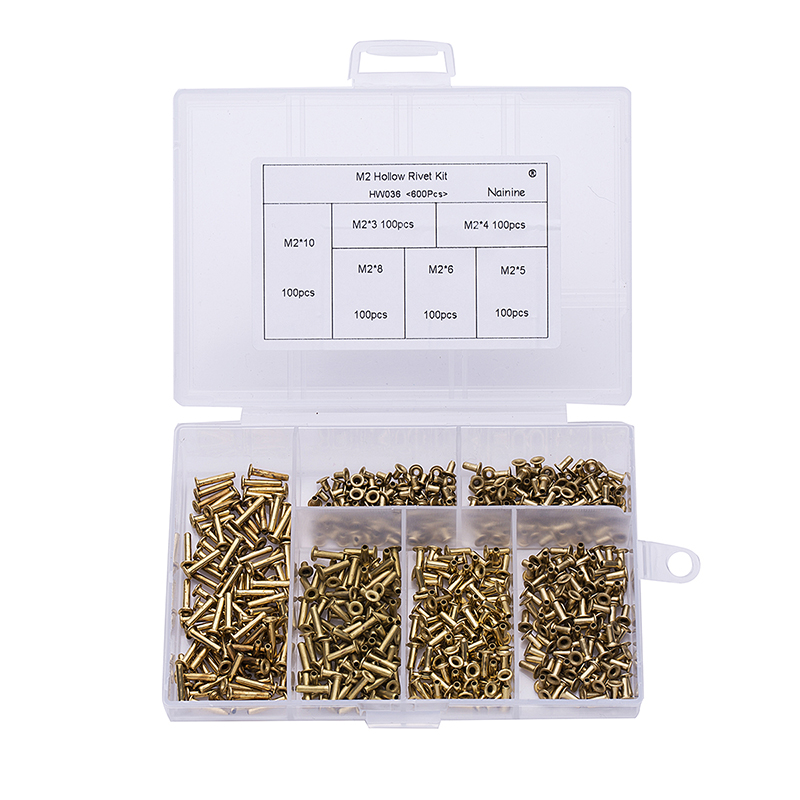 600Pcs/set M2*3/4/5/6/8/10 GB876 Tubular Rivets Double-sided Circuit Board PCB Nails Brass Hollow Rivet Nuts Kit HW036 jtron universal double sided pcb board green 2 x 8cm