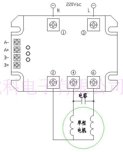 Wechselstrommotor, Positive und Negative Modul, kontaktlose ...