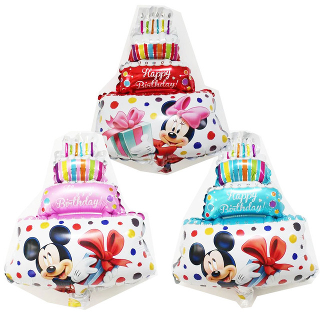 New arrival Mini Mickey Minnie Three layer cake Foil Balloons child
