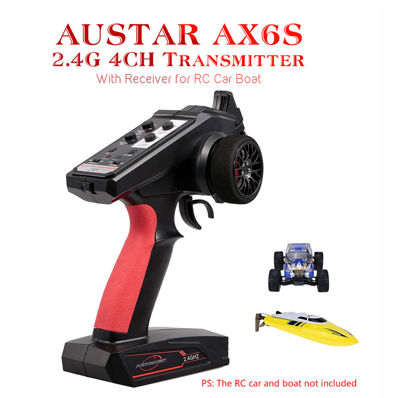 LeadingStar AUSTAR AX6S 2.4G 4CH Transmitter Radio Remote Control with Receiver for Rc Car Boat Rc Accessories image