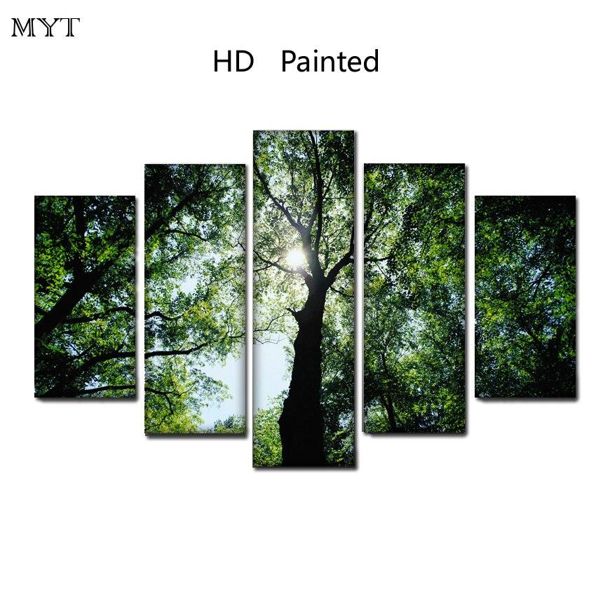 Большие размеры горячая Распродажа кленовые листья пейзаж HD напечатаны на холсте печати живопись современная стены Книги по искусству изо...