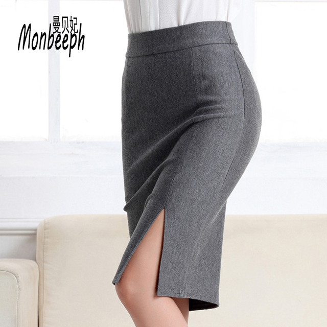 3d1c48dc1 Monbeeph 2019 New Women Formal Work Wear Skirts Ladies Sexy High Waist Mini  Pencil Skirt 7 Colors Stretch Package Hip skirts