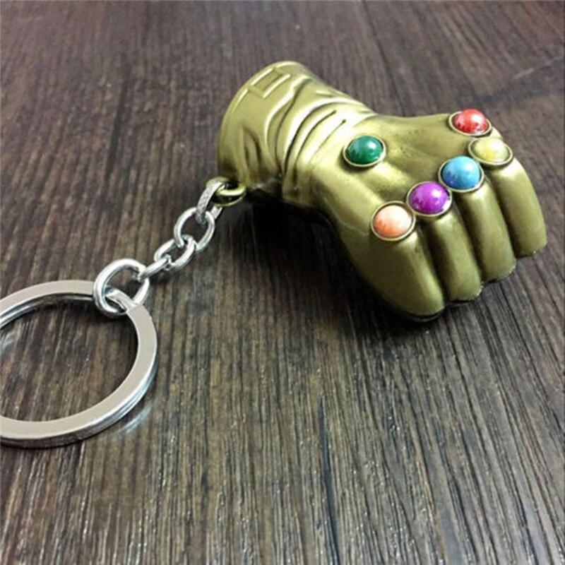 Thanos Avengers Infinity War Infinity Gauntlet Keychain Keyring Metal Pendant