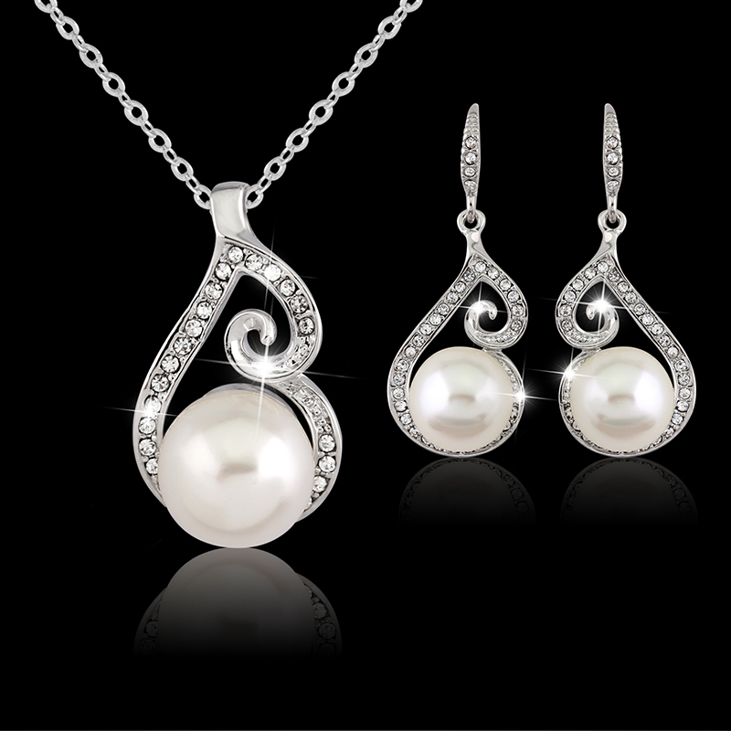 danbihuabi Wedding Jewelry Set Real Plated Cubic Zircon Necklace Pendant/Earrings/Ring Fashionable Women Set