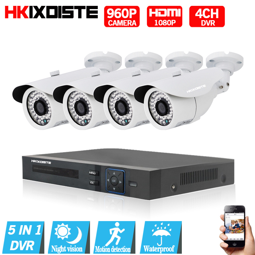1080P HDMI DVR 2500TVL 960P HD Outdoor Home Security Camera System 4CH CCTV Video Surveillance DVR Kit White AHD CCTV Cameras security camera system hd 4ch cctv system 1080p hdmi ahd dvr 2pcs 720p 1080p ahd cameras cctv ir outdoor surveillance system