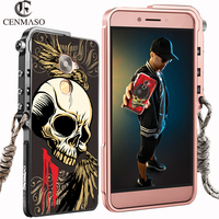 KANENG Metal Cartoon Skull Skeleton Aluminum Frame Case For LeEco Letv Le 2 Le2 Max2 Max