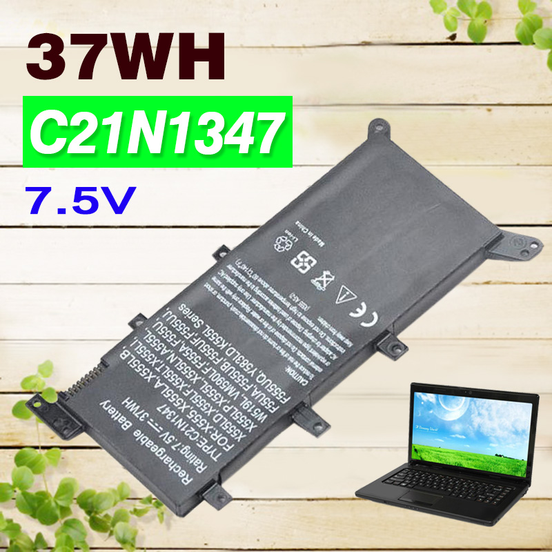 Apexway 7.5V 37Wh Battery Laptop For ASUS X554L X555L X555LB X555LN X555 X555LD X555LP F555A F555U W519L F555UA VM C21N1347 Apexway 7.5V 37Wh Battery Laptop For ASUS X554L X555L X555LB X555LN X555 X555LD X555LP F555A F555U W519L F555UA VM C21N1347
