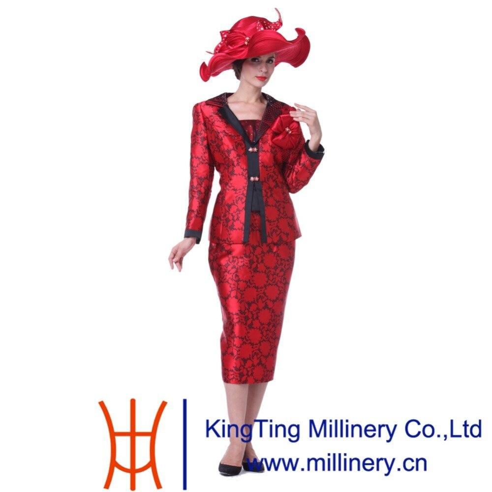 Kueeni Women Hats Hot Red Color Church Hats Lady Party Wear Fedoras Hats  Wide Brim Large Size Diamond Casings Wedding Dress Hats-in Fedoras from  Apparel ... ffae77bb6dda