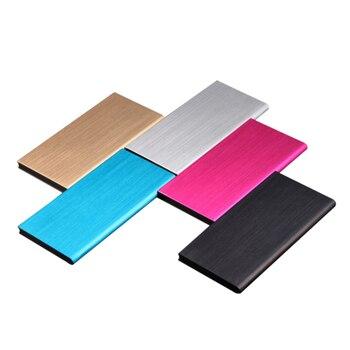 Polímero Ultra-fino Dual USB Power Bank 20000 mAh Bateria Externa Carregador Portátil Powerbank Para Xiao mi mi Móvel telefones Tablets