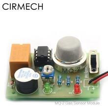 CIRMECH Módulo de Sensor de Gas MQ 2, Sensor de humo, Gas, hidrógeno, butano, metano, para Arduino, kit DIY